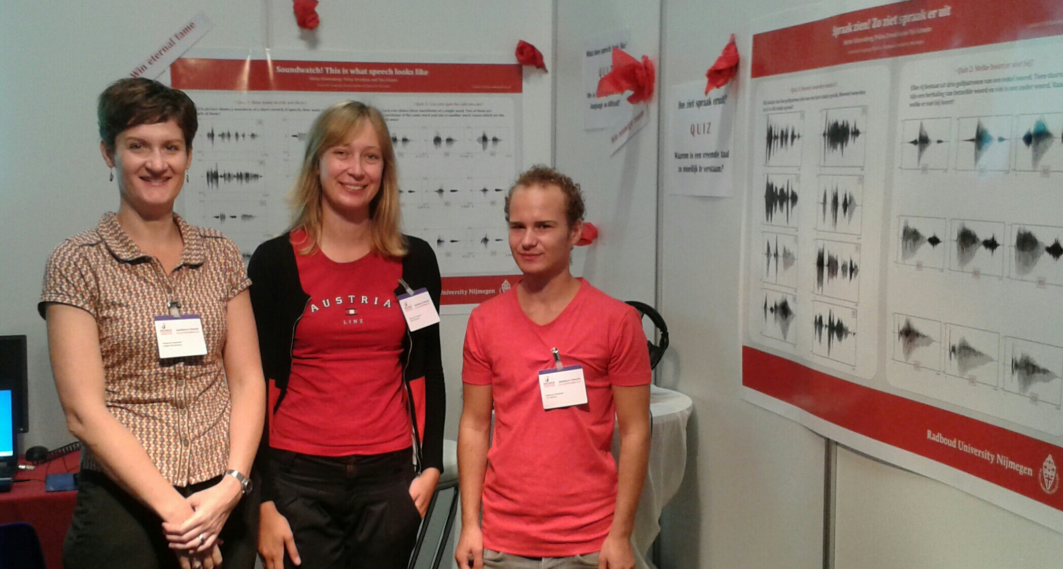 Soundwatch! This is what speech looks like; quiz during the public Drongo language festival, Utrecht, 25-26 Sept 2015.